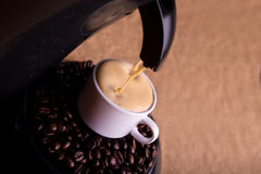 Coffee with foam Royalty Free Stock Photo