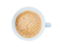Coffee with foam on top Royalty Free Stock Image