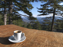 Coffee in the forest Royalty Free Stock Photography