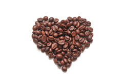 Coffee in the form of heart Stock Photos