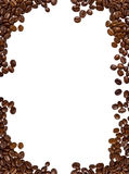 Coffee Frame. A frame made of coffee beans, with isolated background Royalty Free Stock Photography