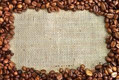 Coffee frame stock image