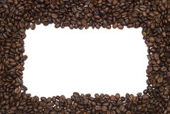 Coffee frame. Isolated over white background Royalty Free Stock Photos