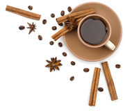 Coffee frame background Royalty Free Stock Image