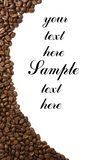 Coffee frame isolated with copyspase Stock Photos