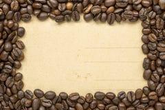 Coffee frame vintage Stock Photos