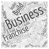 Coffee Franchise word cloud concept. ABCs of a Coffee Franchise Royalty Free Stock Images