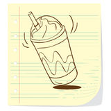 Coffee Frappe Doodle Royalty Free Stock Photos