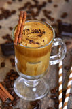 Coffee frappe - traditional recipe of greek cuisine. Summer drink Royalty Free Stock Photography