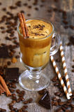 Coffee frappe - traditional recipe of greek cuisine. Summer drink Stock Images