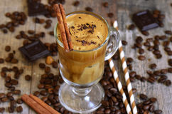 Coffee frappe - traditional recipe of greek cuisine. Stock Photography