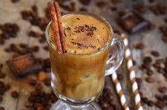 Coffee frappe - traditional recipe of greek cuisine. Royalty Free Stock Photography