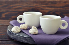 Coffee with fresh biscotti Stock Images