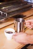 Coffee and fresh milk. Stock Photos