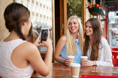 Coffee friends photo Royalty Free Stock Images