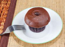 Coffee frosting cupcake Royalty Free Stock Photo