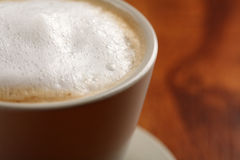 Coffee with frothed milk (shallow Dof) Royalty Free Stock Image