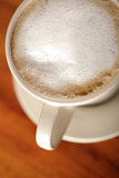 Coffee with frothed milk (shallow Dof) Stock Photo