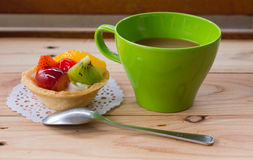 Coffee and Fruit pie Royalty Free Stock Photo