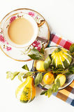 Coffee and fruits Royalty Free Stock Photos