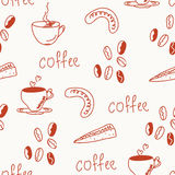 Coffee  funny seamless pattern Royalty Free Stock Photo