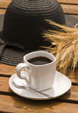 Coffee in the garden Royalty Free Stock Image