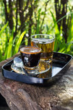 Coffee in garden Royalty Free Stock Photo