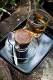 Coffee in garden Royalty Free Stock Photos