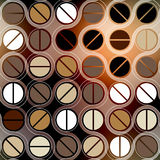Coffee geometric pattern in retro style Stock Images