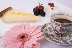 Coffee and Gerbera Stock Photography