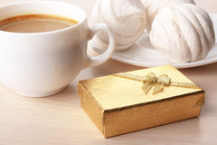 Coffee And Gift Royalty Free Stock Images