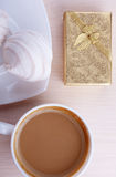 Coffee And Gift Royalty Free Stock Photography