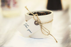 Coffee gift Royalty Free Stock Photos