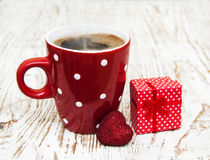 Coffee and gift Royalty Free Stock Image