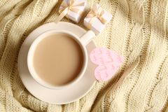 Coffee and gifts for loved ones Stock Photography