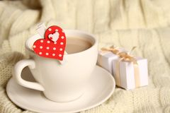 Coffee and gifts for loved ones Stock Images