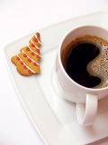 Coffee and gingerbread stock photos