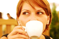 Coffee girl Royalty Free Stock Photo
