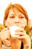 Coffee girl Royalty Free Stock Photo