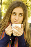 Coffee Girl Stock Images
