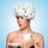 Coffee glam. Royalty Free Stock Images