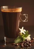 Coffee in the glass Stock Photography
