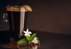 Coffee in the glass Royalty Free Stock Photography