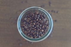 Coffee in a glass container 4 royalty free stock photos