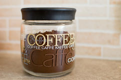 Coffee in glass container Stock Image