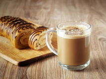 Coffee. Glass cup of cappuccino coffee Royalty Free Stock Image