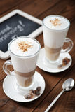 Coffee in glass cup Stock Photography