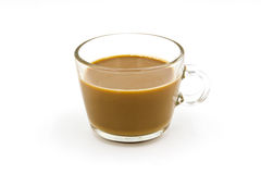 Coffee in glass cup Stock Images