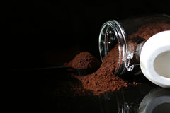 Coffee in a glass jar Royalty Free Stock Images