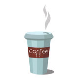 Coffee glass vector icon. Stock Photography